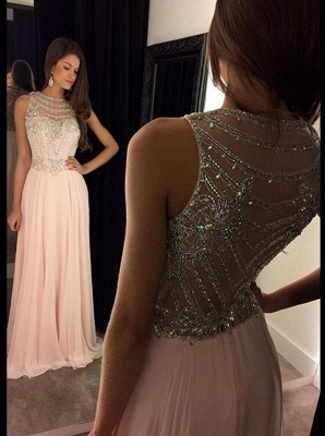 Forme Princesse Col en cœur Mousseline polyester alayage/Pinceau train Robes de soirée avec Cristal_2