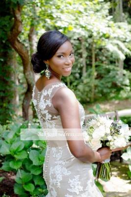 Robe de mariée sirène sans manches | Robe de mariage trompette dentelle chic_3