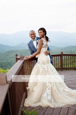 Robe de mariée sirène sans manches | Robe de mariage trompette dentelle chic_2