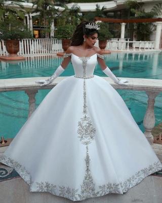 Robes de mariée avec Cristal | Forme Marquise Traîne mi-longue Col bateau Tulle