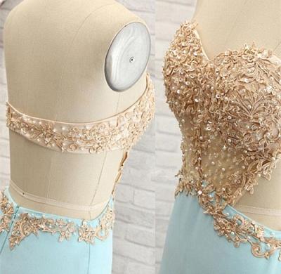 Forme Princesse Col en cœur Satin soyeux élastique alayage/Pinceau train Robes de soirée avec Appliques Perle_5