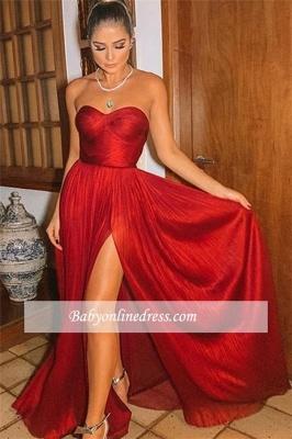 Robe de bal princesse moderne fendue devant | Robe de soirée princesse sans bretelles_2