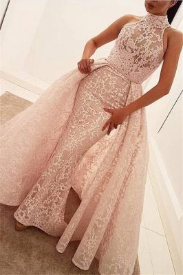 Robe de soirée fourreau dentelle chic | Robe de cérémonie gaine traîne détachable_1