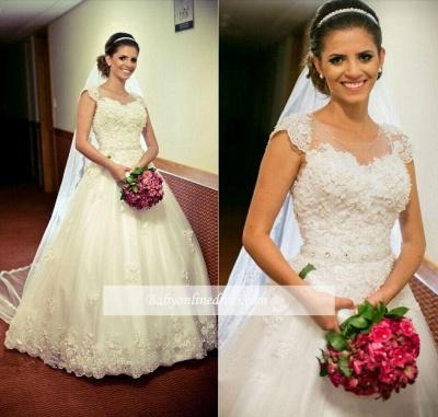 Robe de mariée princesse avec appliques   Robe de mariage princesse classique_2