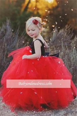 Forme Marquise Longueur ras du sol Avec bretelles Tulle Robes de demoiselle d'honneur - fillette avec Fleurs