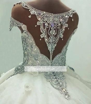 Robe de mariée princesse luxueuse avec cristaux | Robe de mariage princesse longue élégante_5