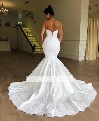 Robe de mariée sirène bretelles fines | Robe de mariage trompette avec dentelles_2
