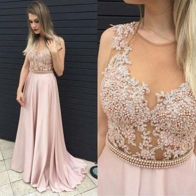 Forme princesse robe de soirée avec perle et dentlle bonne qualité longueur sol_2