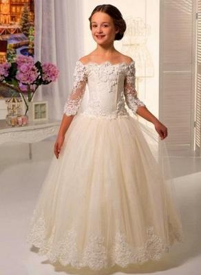 Robe de demoiselle d'honneur fillette princesse tulle avec dentelle | Robe fillette de cérémonie 2020_1
