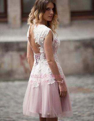 Robe de soirée princesse courte tulle chic | Robe de cocktail princesse avec dentelle_1