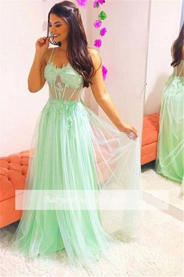 Robe de bal princesse bretelles fines   Robe de soirée princesse tulle chic_1