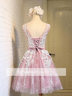 Robe de soirée princesse courte chic | Robe de cocktail princesse mini avec appliques_2