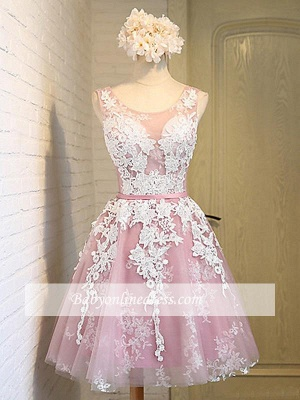 Robe de soirée princesse courte chic | Robe de cocktail princesse mini avec appliques_4