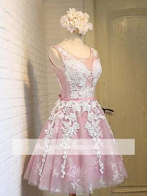Robe de soirée princesse courte chic | Robe de cocktail princesse mini avec appliques_3