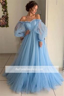 Robe de bal princesse manches bouffante | Robe de soirée princesse épaules nues_2