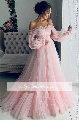 Robe de bal princesse manches bouffante | Robe de soirée princesse épaules nues_1