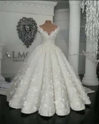 Robes de mariée de créateur avec des robes de mariée en dentelle en ligne_3