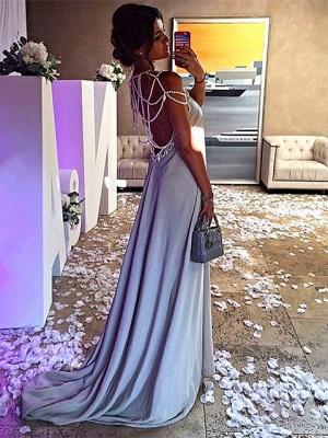Forme A-line robe de soirée bretelle en perle longueur sol couleurs au choix_3