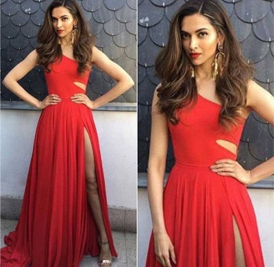 robe de soirée longue | robe rouge simple_3
