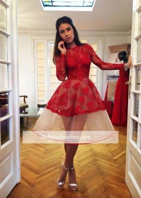 Robe de soirée princesse dentelle sublime | Robe de cocktail princesse mini manches longues_2