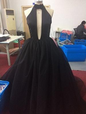 Forme Princesse Alayage/Pinceau Train Col en V Tulle Robe de Soirée_2