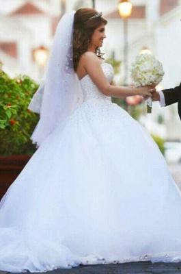 Forme Marquise Robes de mariée robe de bal avec Perle_4