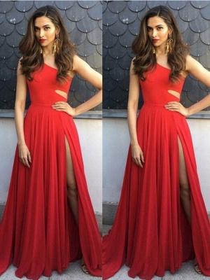 robe de soirée longue | robe rouge simple_2