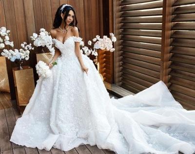 robe de mariée de princesse de luxe | robe de haut de gamme_3