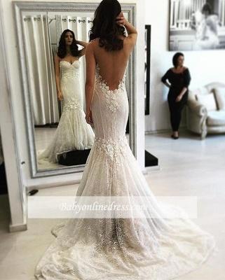 alayage/Pinceau train Col en cœur robe de mariée_1