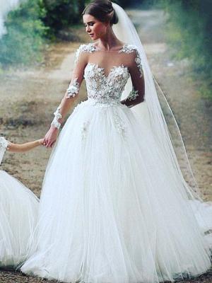 Robe de mariée princesse avec appliques | robe de mariée élégante_1