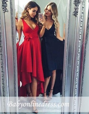Robe de soirée princesse longueur Hi-Lo | Robe de cocktail princesse col en V_2