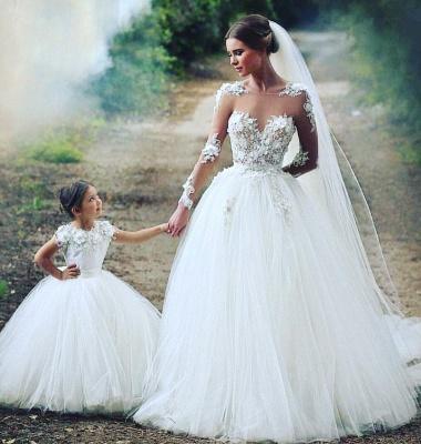 Robe de mariée princesse avec appliques | robe de mariée élégante_2