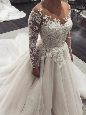 Robe de mariée princesse tulle chic avec appliques | Robe de mariage princesse longue élégante_1