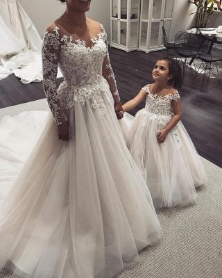 Robe de mariée princesse tulle chic avec appliques | Robe de mariage princesse longue élégante_3