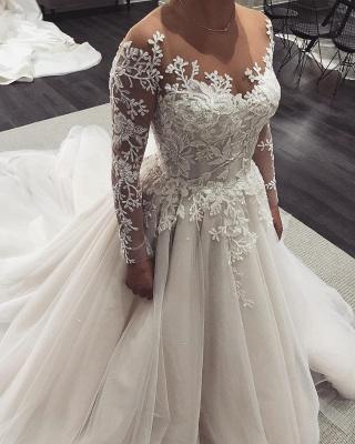 Robe de mariée princesse tulle chic avec appliques | Robe de mariage princesse longue élégante_2