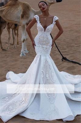 Robe de mariée sirène avec appliques | Robe de mariage trompette luxueuse_3
