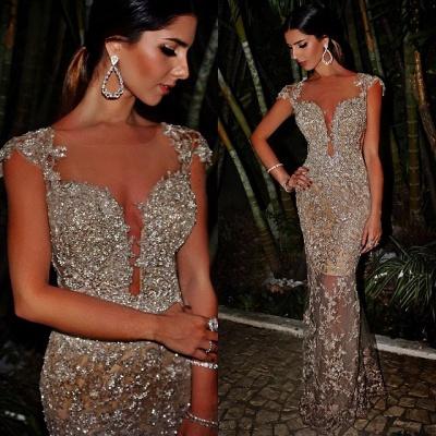 Gaine élégante Skinny lourd perles de luxe femmes Robes de soirée_1