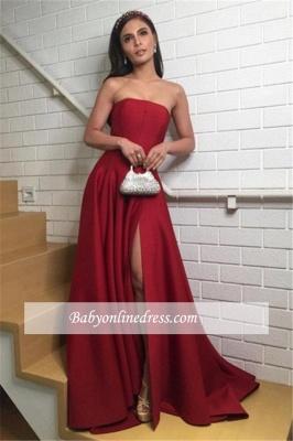 robe de soirée longue bustier avec fente_1