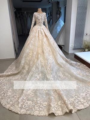 Robe de mariée princesse dentelle luxueuse | Robe de mariage princesse manches longues_2