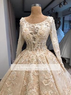 Robe de mariée princesse dentelle luxueuse | Robe de mariage princesse manches longues_3