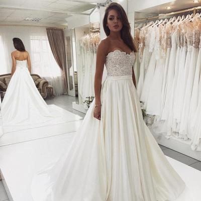 Robe de mariée princesse dentelle chic | Robe de mariage princesse sans bretelles_3