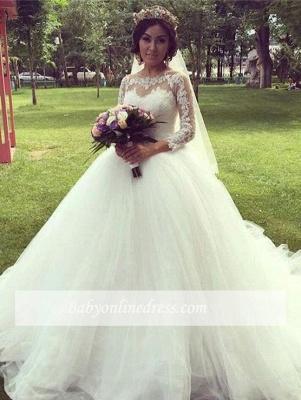 Forme Marquise alayage/Pinceau train Tulle Robes de mariée 2020 avec Dentelle_4
