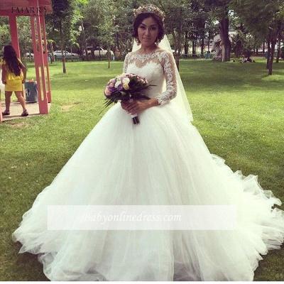 Forme Marquise alayage/Pinceau train Tulle Robes de mariée 2020 avec Dentelle_1