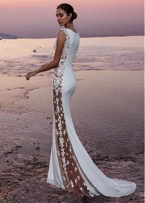 Robe de soirée sirène sexy avec dentelle | Robe de cérémonie trompette chic_3