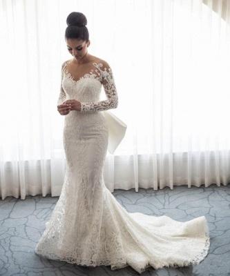 Robe de mariée sirène traîne détachable | Robe de mariage trompette dentelle élégante_2
