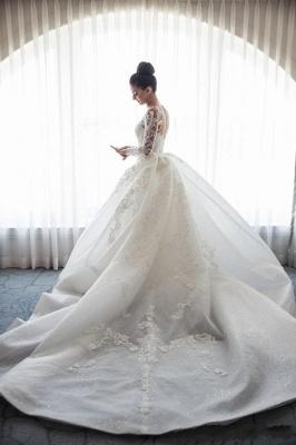 Robe de mariée sirène traîne détachable | Robe de mariage trompette dentelle élégante_5