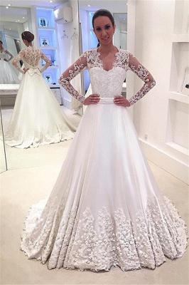 Forme Princesse alayage/Pinceau train Robes de mariée 2021 avec Appliques_1