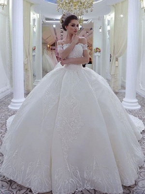 Robe de mariée princesse épaules nues | Robe de mariage princesse dentelle sublime_1