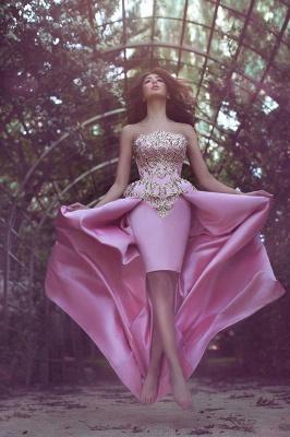 Forme princesse robe de cérémonie en satin bonne qualité reborderie d'or longueur sol_1