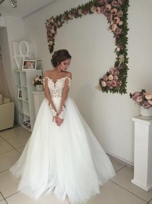 Robe de mariée princesse tulle chic avec dentelle | Robe de mariage princesse épaules nues_3